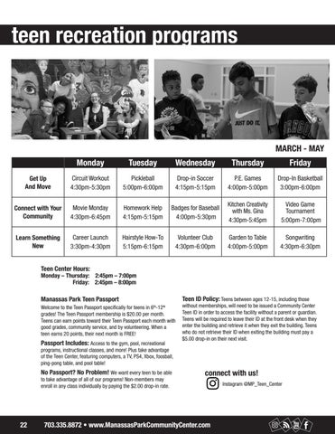 Page 22 of Teen Programs
