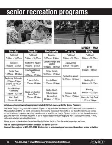 Page 30 of Senior Programs