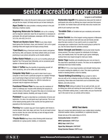 Page 31 of Senior Programs