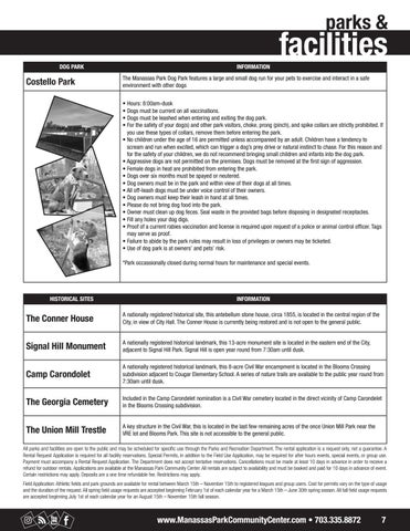 Page 7 of Parks and Facilities