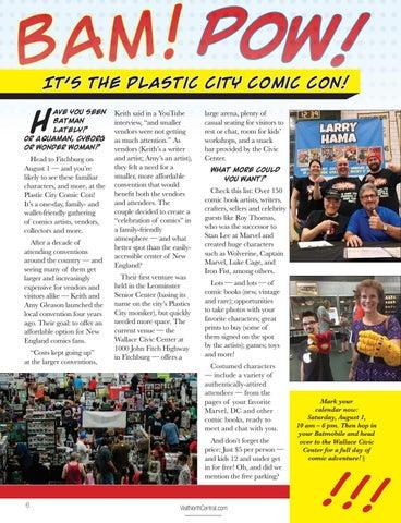 Page 8 of Bam! Pow! It's The Plastic City Comic Con!