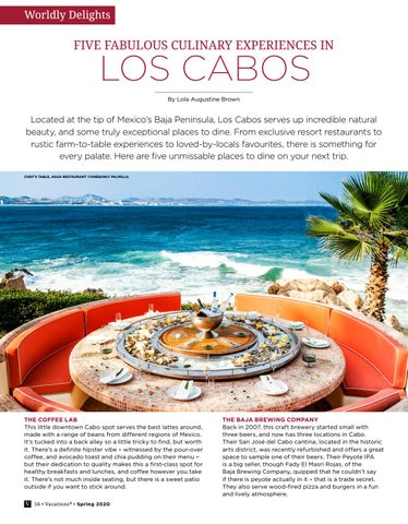 Page 56 of FIVE FABULOUS CULINARY EXPERIENCES IN LOS CABOS