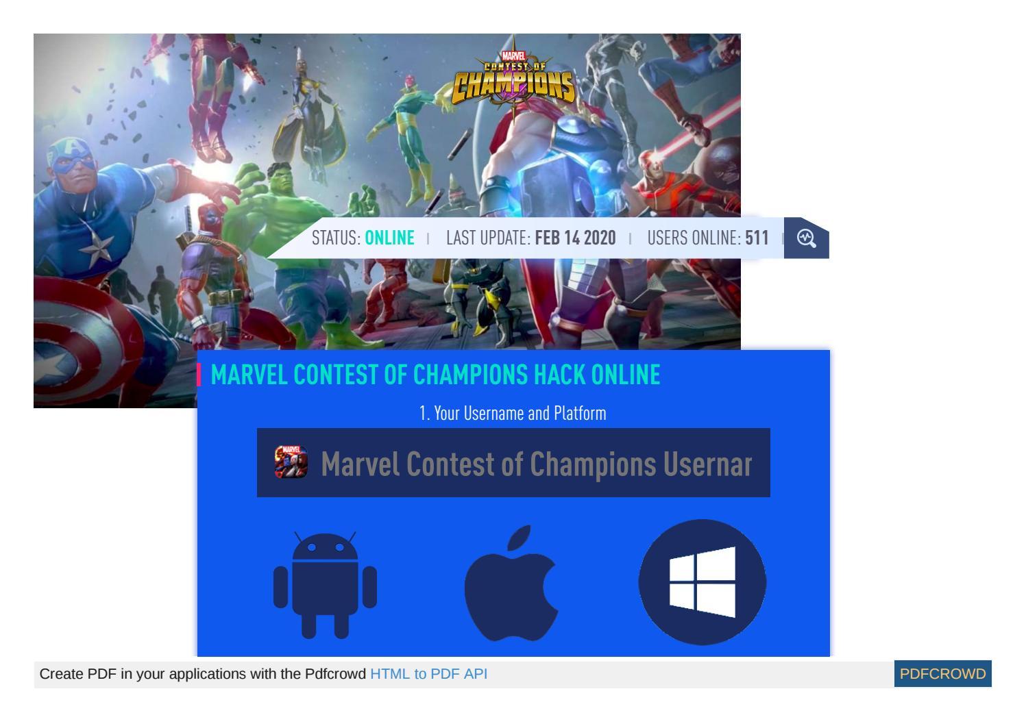 Marvel Contest Of Champions Hack Cheat Marvel Contest Of Champions Mod Units And Gold By Kenali Yakin Kye Issuu