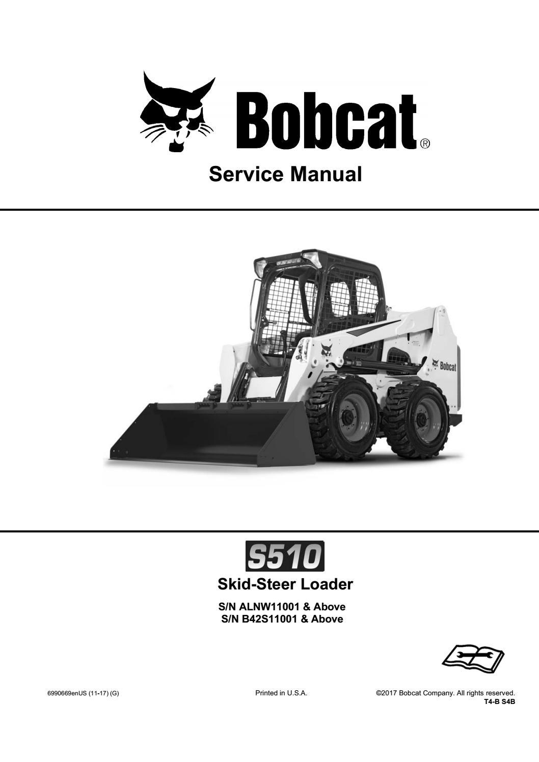 Bobcat S510 Skid Steer Loader Service Repair Manual Sn B42s11001 And Above By Shuianxu9 Issuu
