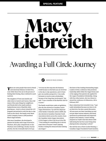 Page 19 of Awarding a Full Circle Journey –Macy Liebreich