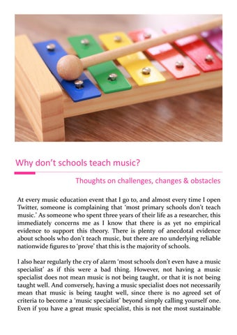 Page 22 of Why don't schools teach music?