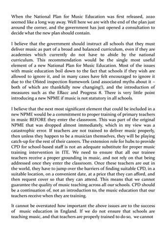 Page 5 of The National Plan for Music Education