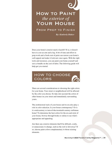 Page 31 of How to Paint the Exterior of your Home
