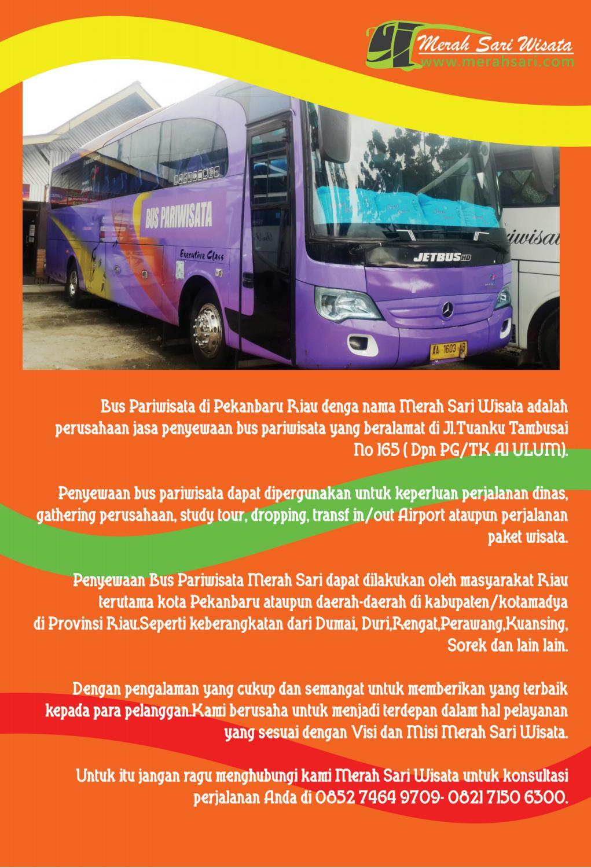Sangat Menarik Bus Pariwisata Pekanbaru Murah Hp Wa 085274649709 Merah Sari Wisata By Sewa Bus Pariwisata Issuu