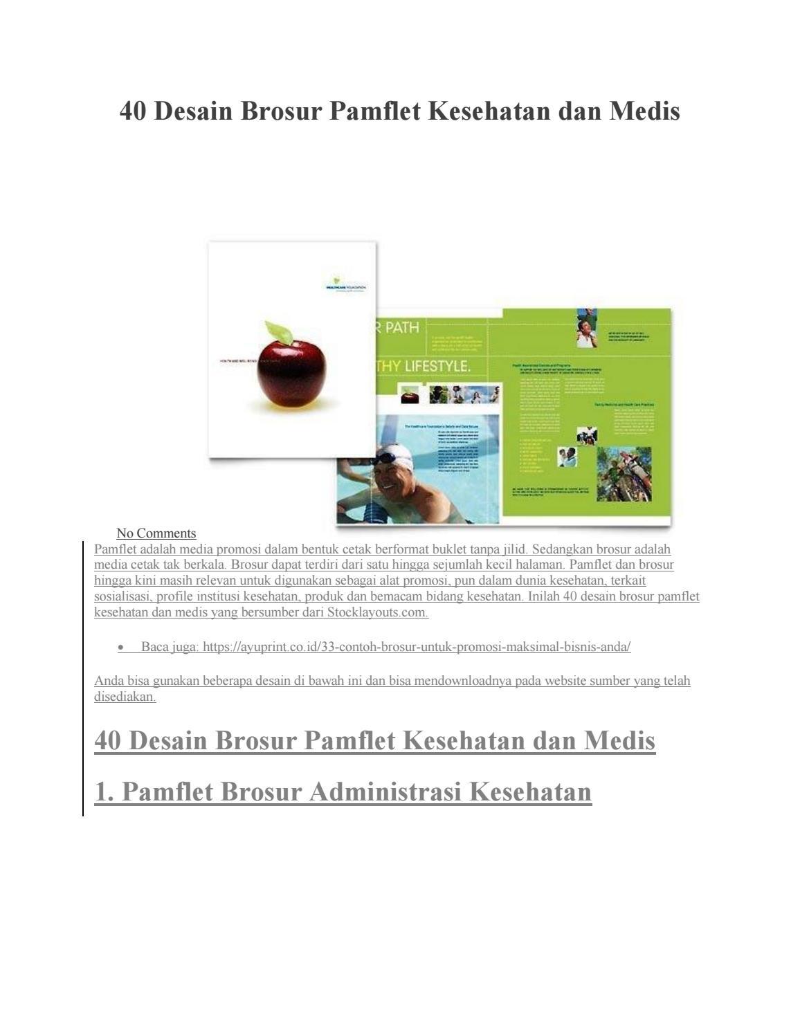 40 Desain Brosur Pamflet Kesehatan Dan Medis By Fadli Herdiman Issuu