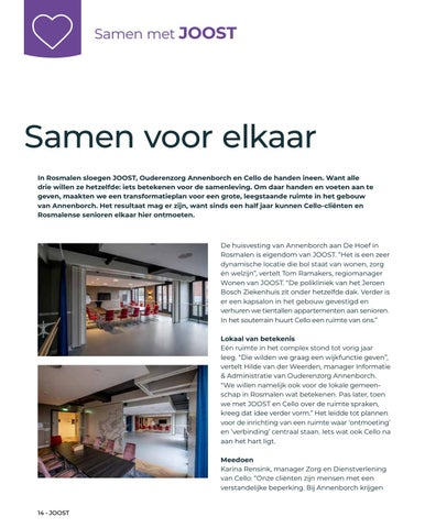 Page 14 of Interview met samenwerkingspartners Cello en Annenborch