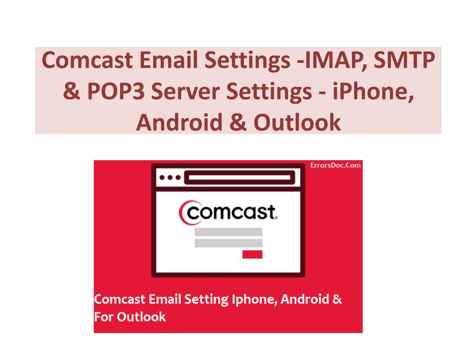Comcast Email Settings By Kylieava012 Issuu