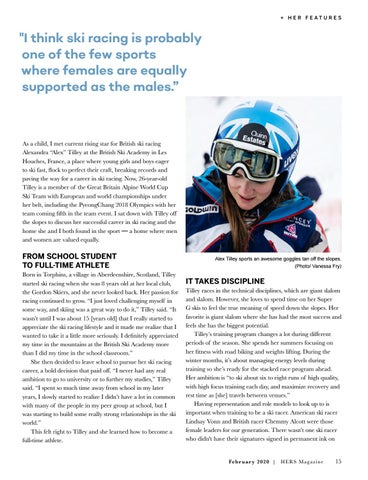 Page 15 of Ski Racer Alex Tilley