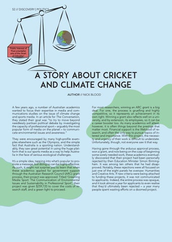 Page 54 of A Story About Cricket and Climate Change Nick Blood