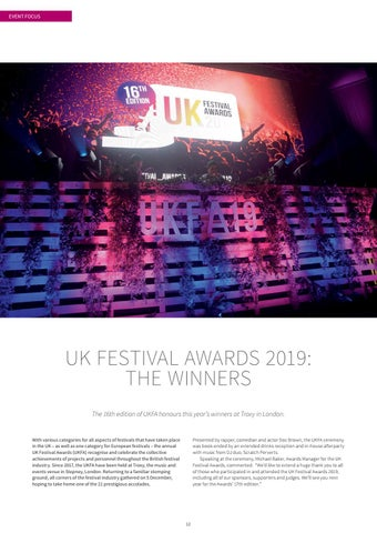 Page 12 of UK FESTIVAL AWARDS 2019: THE WINNERS