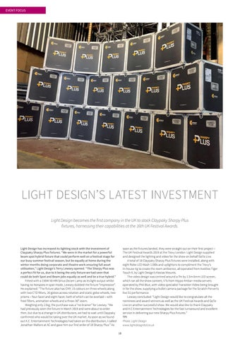 Page 18 of LIGHT DESIGN'S LATEST INVESTMENT