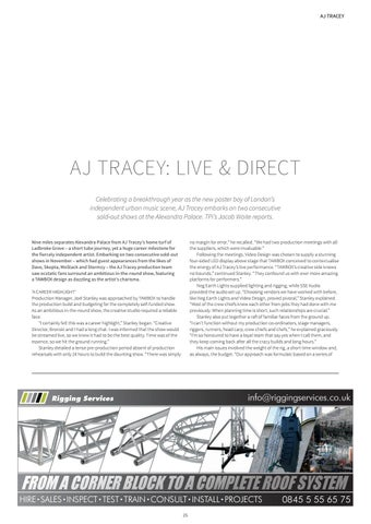 Page 25 of AJ TRACEY: LIVE & DIRECT