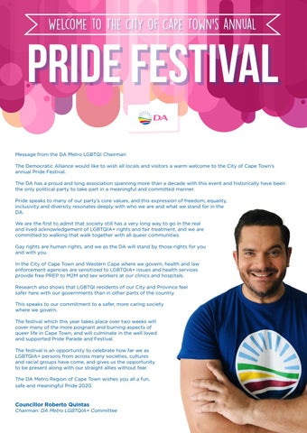 Page 23 of Message from DA Metro LGBTQI Chairman