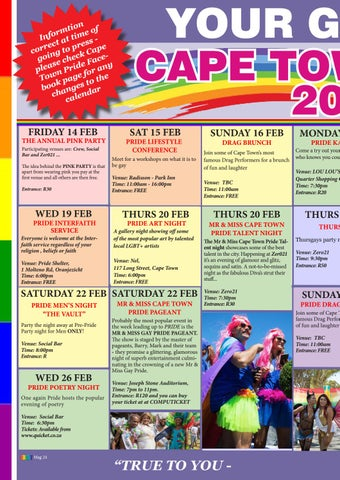 Page 26 of YOUR GUIDE TO CAPE TOWN PRIDE 2020