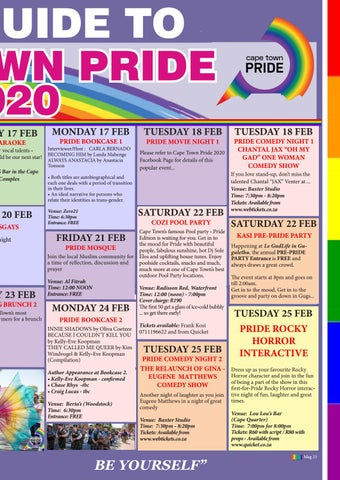 Page 27 of YOUR GUIDE TO CAPE TOWN PRIDE 2020