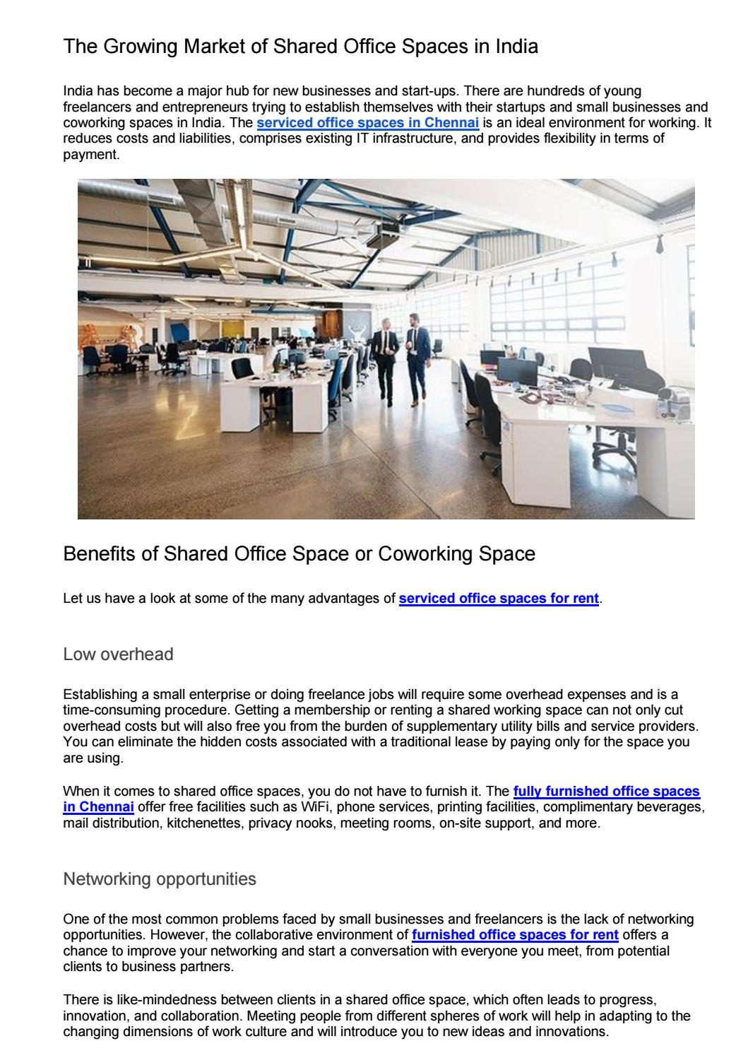 The Growing Market Of Shared Office Spaces In India By Ananyababita222 Issuu