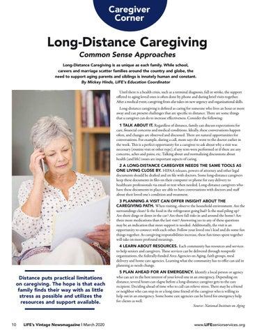 Page 10 of Caregiver Corner