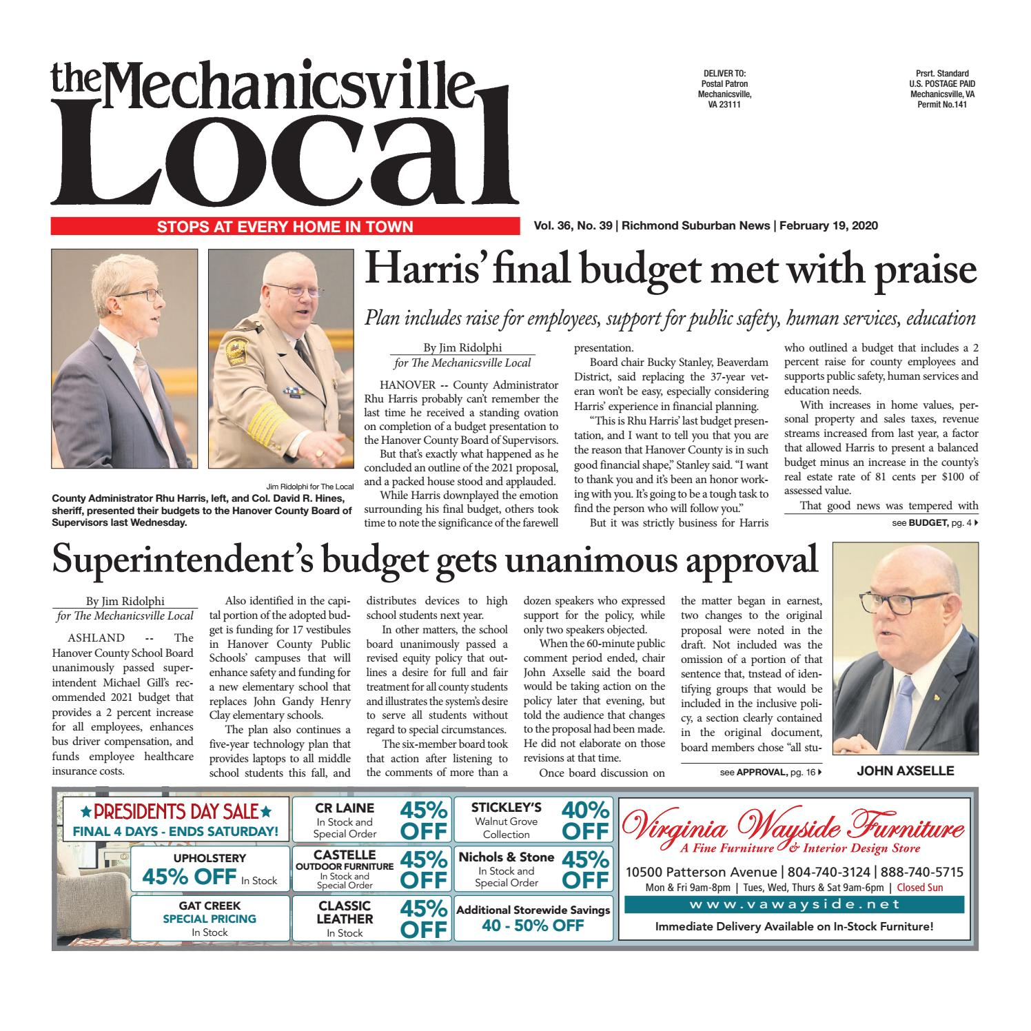 The Mechanicsville Local 02 19 2020 By The Mechanicsville Local Issuu