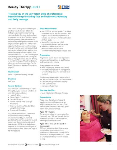 Page 31 of Beauty Therapy Level 3