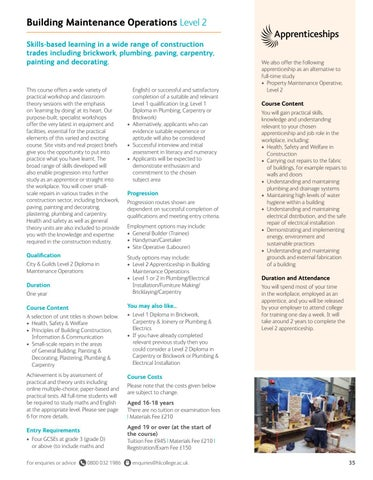 Page 35 of Building Maintenance Operations Level 2