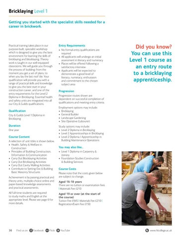 Page 36 of Bricklaying Level 1