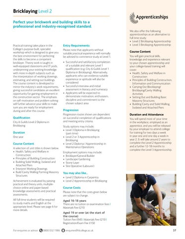 Page 37 of Bricklaying Level 2