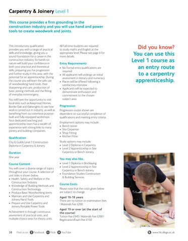 Page 38 of Carpentry & Joinery Level 1