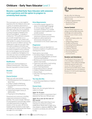 Page 41 of Childcare - Early Years Educator Level 3