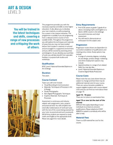 Page 29 of Art & Design Level 3