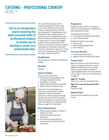 Page 34 of Catering – Professional Cookery Level 1