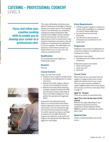 Page 37 of Catering – Professional Cookery Level 3