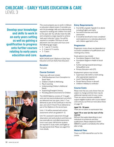 Page 38 of Childcare – Early Years Education & Care Level 3