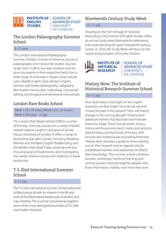 Page 13 of Summer schools and short courses