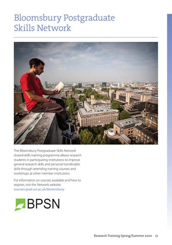 Page 17 of Bloomsbury Postgraduate Skills Network