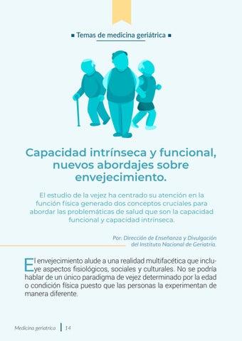 Page 14 of Capacidad intrínseca y funcional, nuevos abordajes sobre envejecimiento
