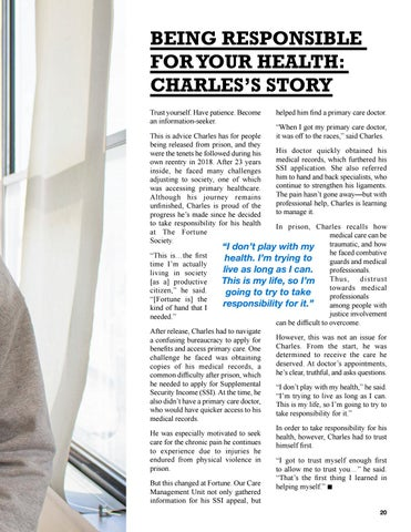 Page 23 of BEING RESPONSIBLE FOR YOUR HEALTH: CHARLES'S STORY