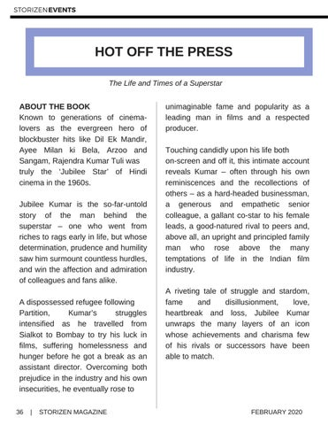Page 36 of Hot Off The Press: Jubilee Kumar The Life and Times of a Superstar