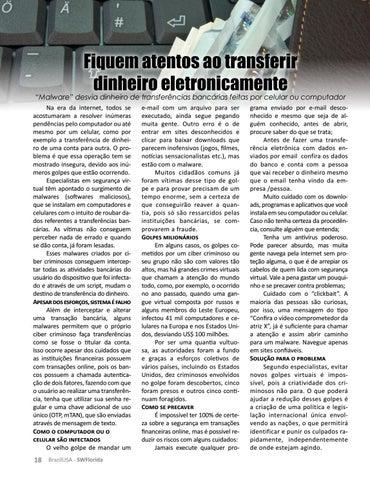 Page 18 of FIQUEM ATENTOS AO TRANSFERIR DINHEIRO ELETRONICAMENTE