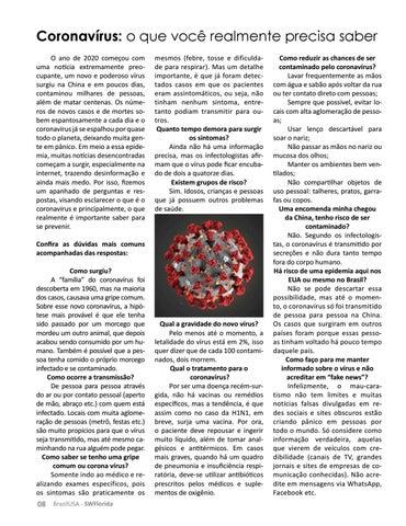 Page 8 of CORONAVÍRUS: O QUE É IMPORTANTE VOCÊ SABER