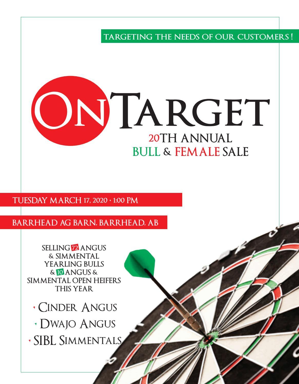 20th Annual Ontarget Bull Female Sale By Optimal Bovines Inc Issuu