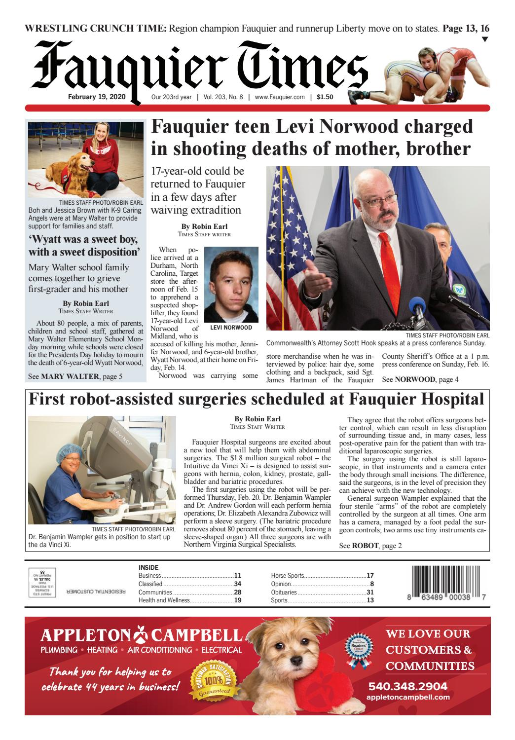 Fauquier Times 02 19 2020 By Fauquier Times Issuu