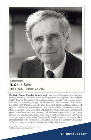 Page 5 of H. Colin Slim, April 9, 1929 – October 22, 2019
