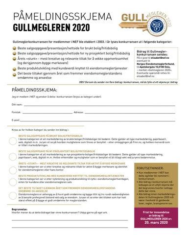 Page 30 of Påmeldingsskjema Gullmegleren 2020