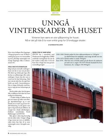 Page 8 of Unngå vinterskader på huset