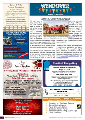 Page 22 of WENDOVER CELEBRATES